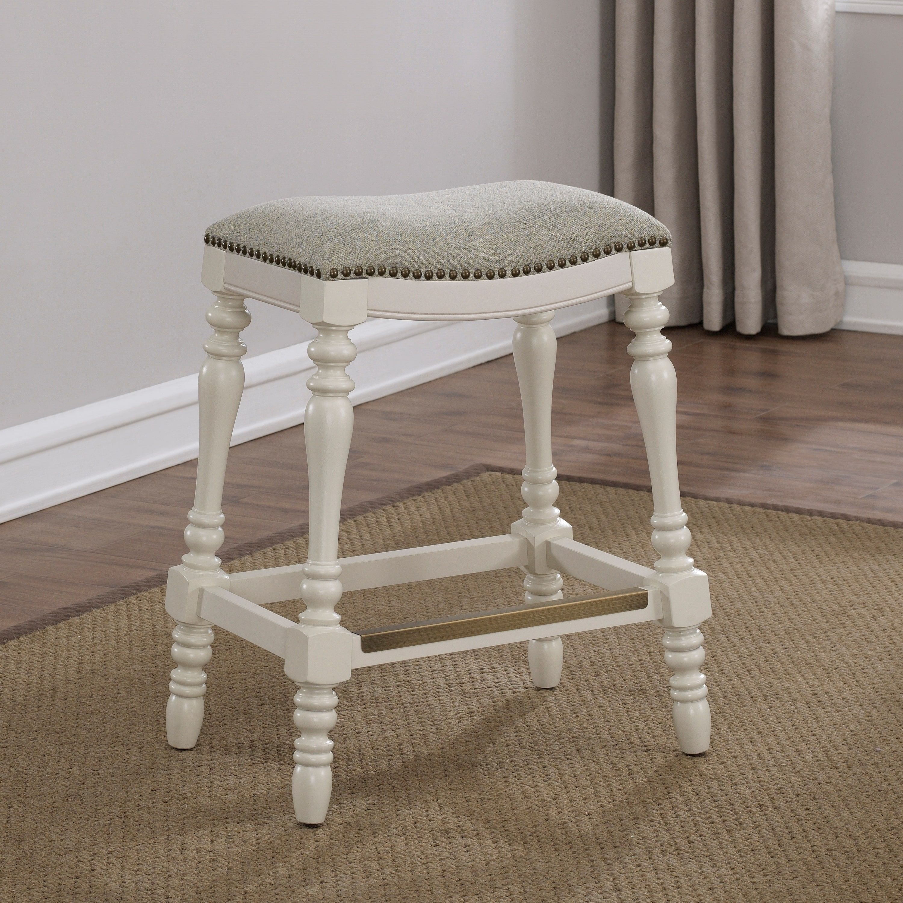 Hollyn 25inch Saddle Seat Counter Stool by Greyson Living