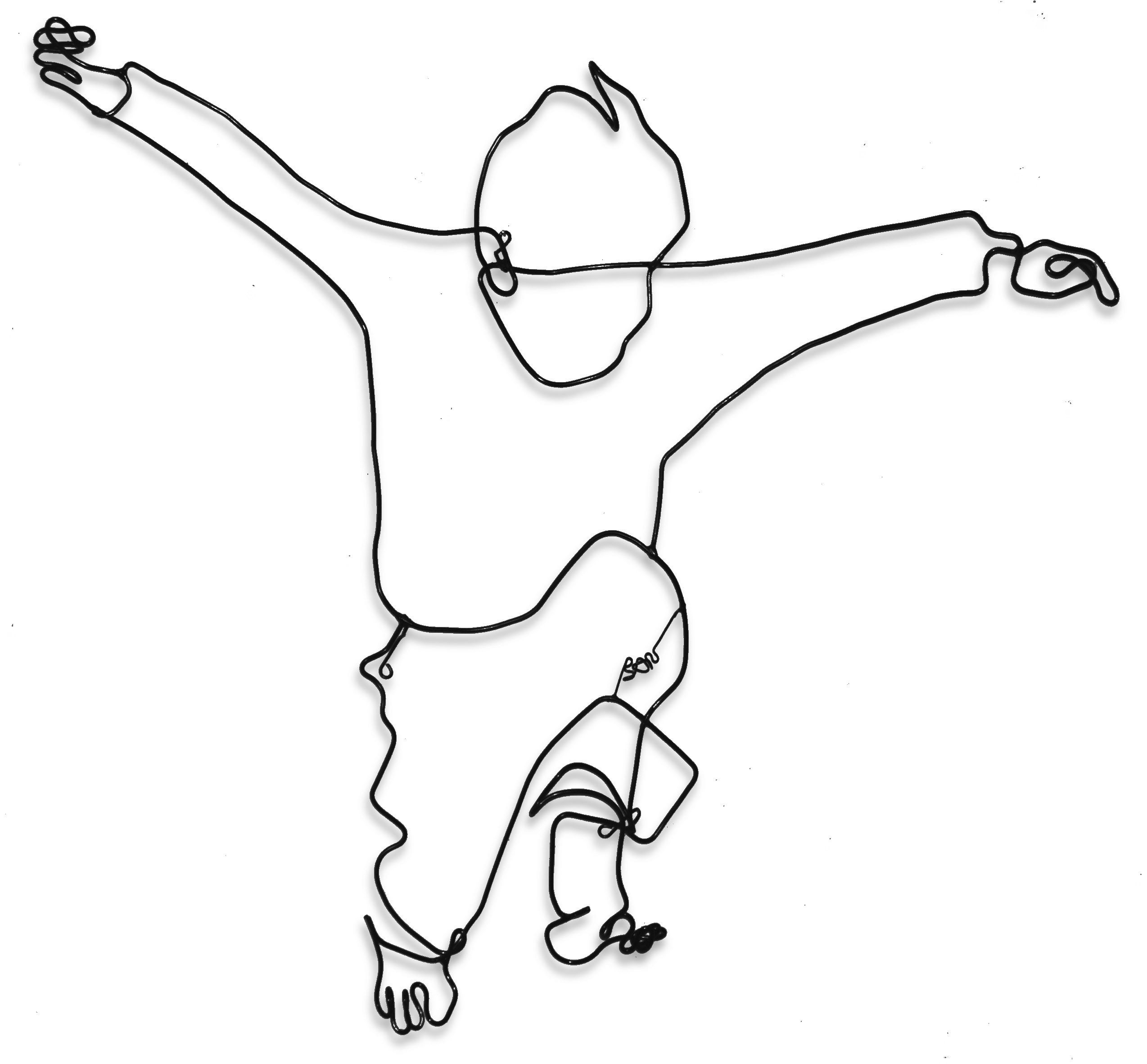 Drawing Using Line Drawing With Wire Technique