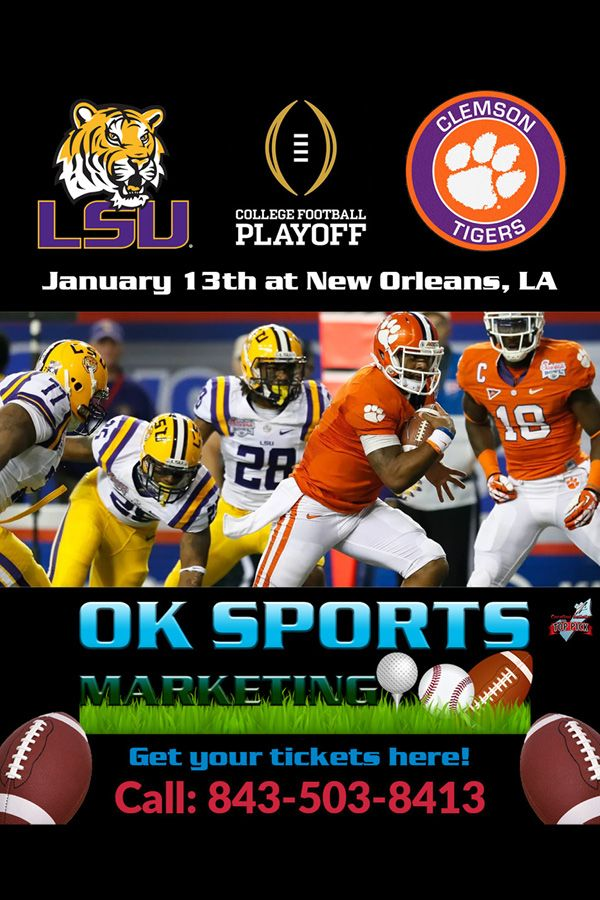 Get tickets to LSU vs Clemson College Football Playoff in
