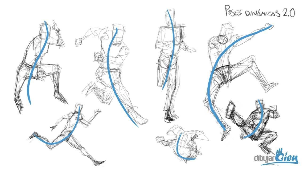 Aprender A Dibujar Personas Figura Humana En Movimiento Dibujos De Personas Dibujo Movimiento