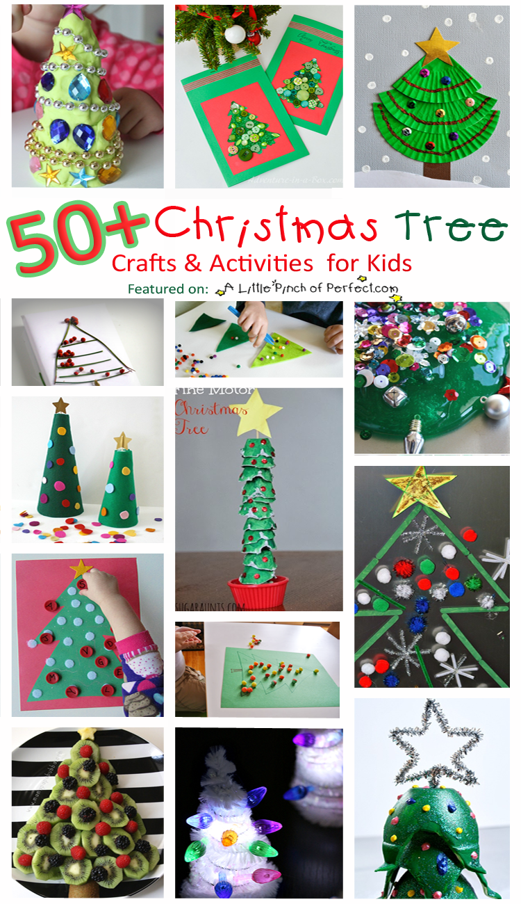 Christmas Giveaways For Kids.50 Christmas Tree Crafts And Activities For Kids A Little