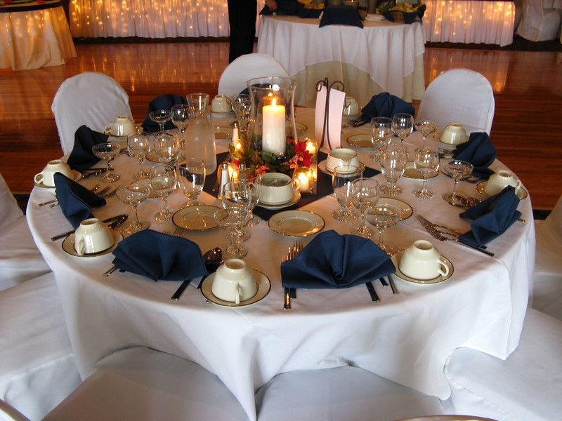 Red, White And Navy Blue Wedding Reception Ideas