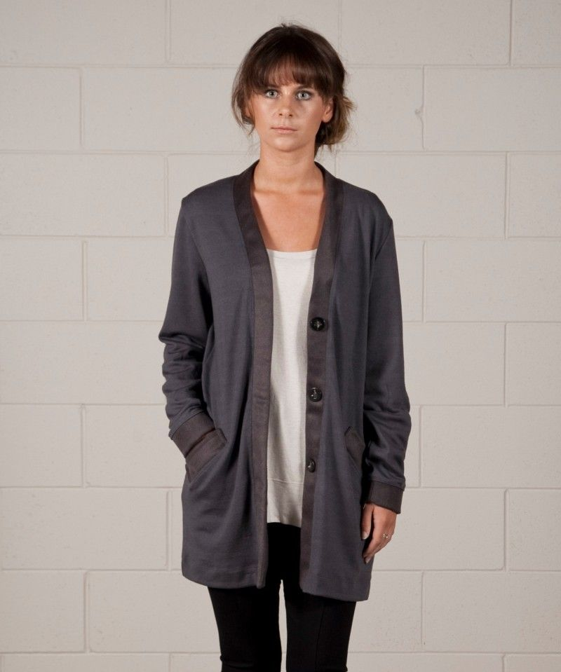 The Snug Cardi is made from 100 percent Merino, and it's soft and snuggily and perfect for winter! [NZ$160.00]