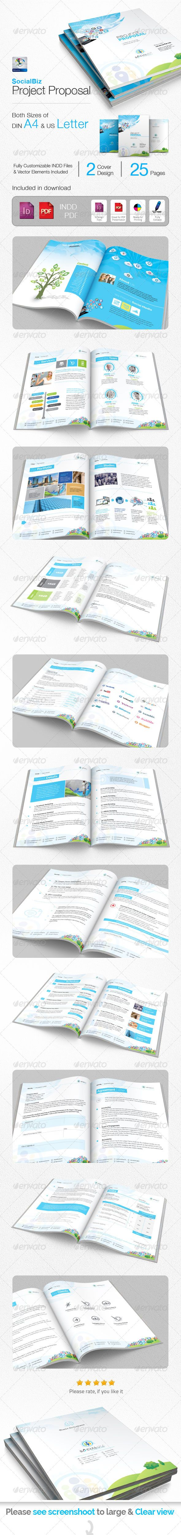 Official Proposal Template Socialbiz Social Media Proposal  Proposals & Invoices Stationery .