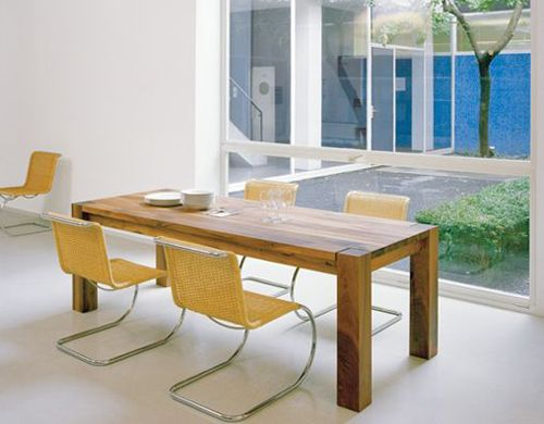 Ta04 Bigfoot Table 36 Oak Contemporary Wood Dining Table