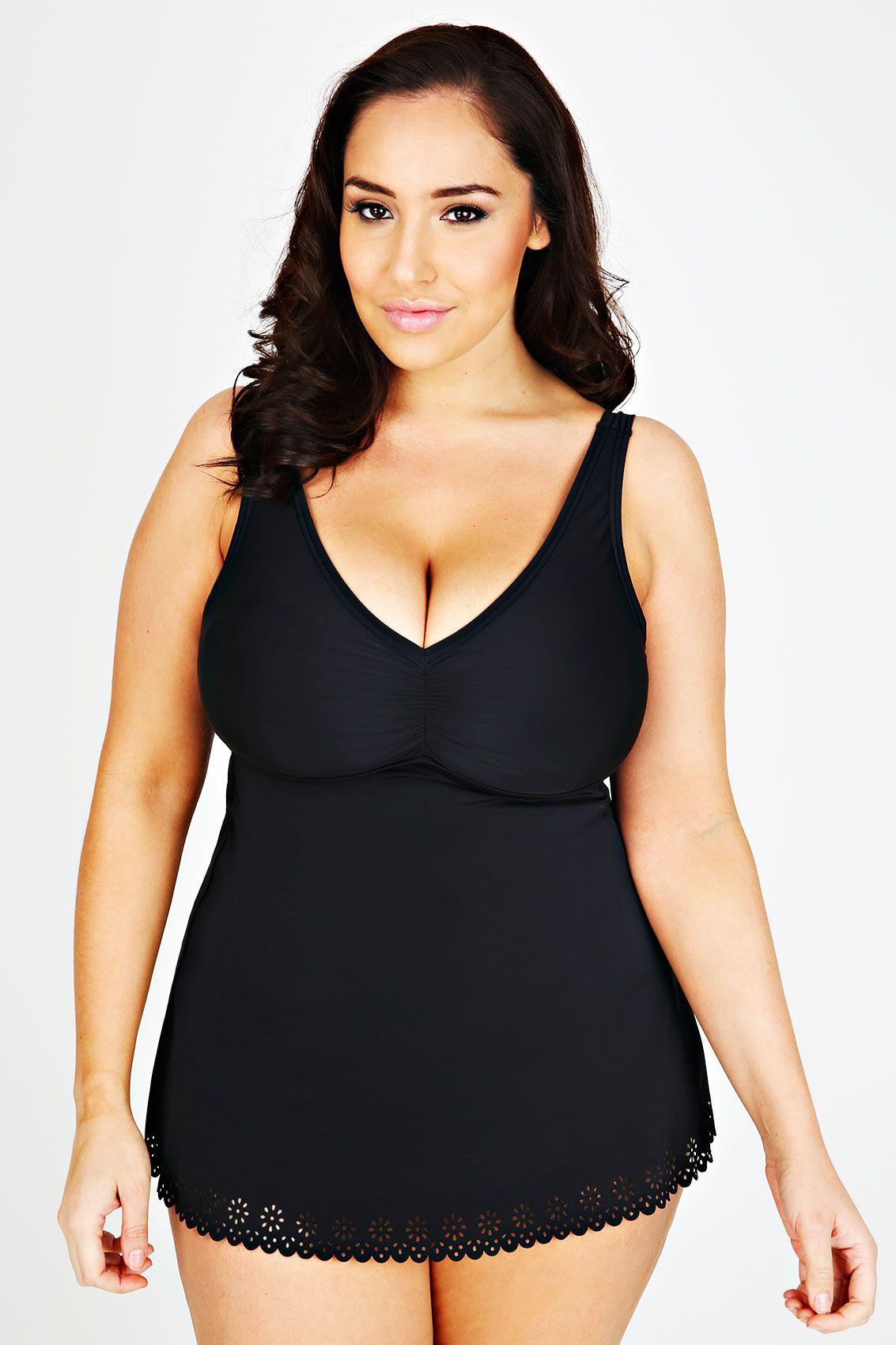black swimdress with tummy control   jada sezer (yours clothing