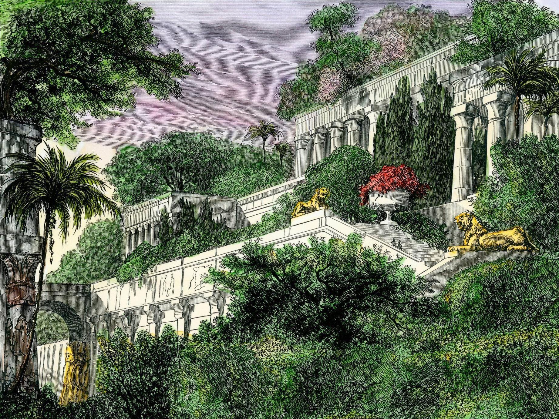 Hanging Gardens Of Babylon Hanging Garden Gardens Of Babylon Wonders Of The World