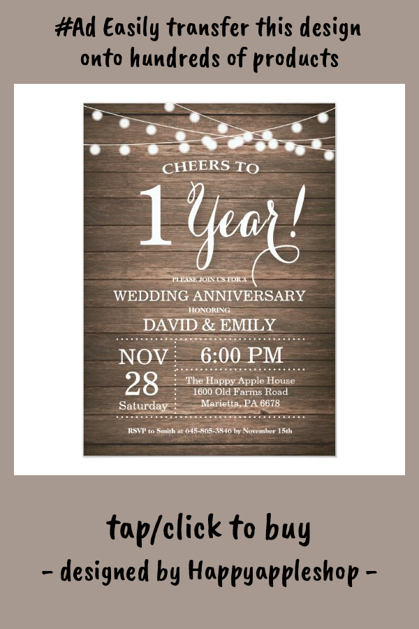 1st Wedding Anniversary Invitation Rustic Wood Zazzle Com In 2021 Wedding Anniversary Invitations 50th Wedding Anniversary Invitations Anniversary Invitations