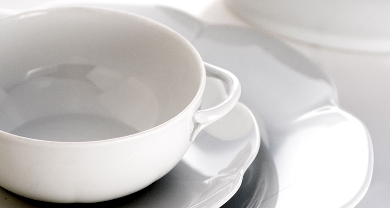 Elegantly shaped white porcelain tableware from Royal Limoges | Harlequin London #elegant #white # & Elegantly shaped white porcelain tableware from Royal Limoges ...