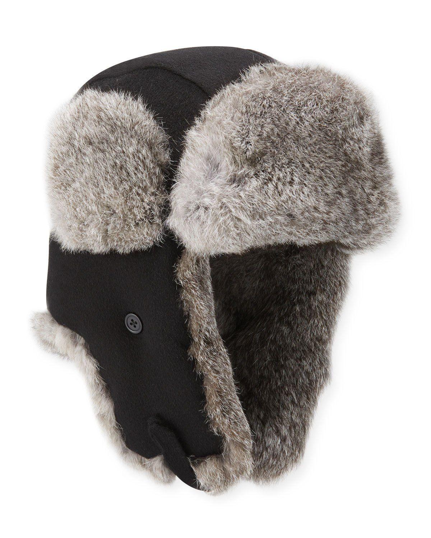 NEIMAN MARCUS MEN S FUR-TRIM CAMELHAIR TRAPPER HAT.  neimanmarcus Mens Fur d18cf43d637b