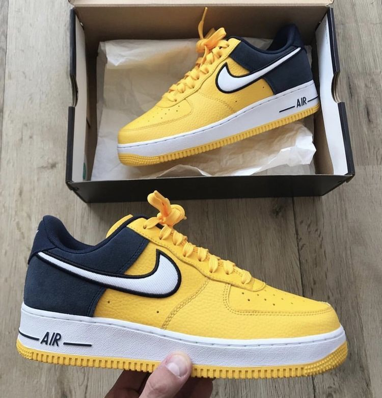 Nike air force one amarillas en 2020 | Zapatos nike hombre ...