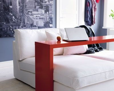 Ikea Malm Occasional Table To Slide On Rollers In The Bedroom Not Orange Of Course We Ll Have To Make Ou Furniture Chicago Furniture Small Apartment Living