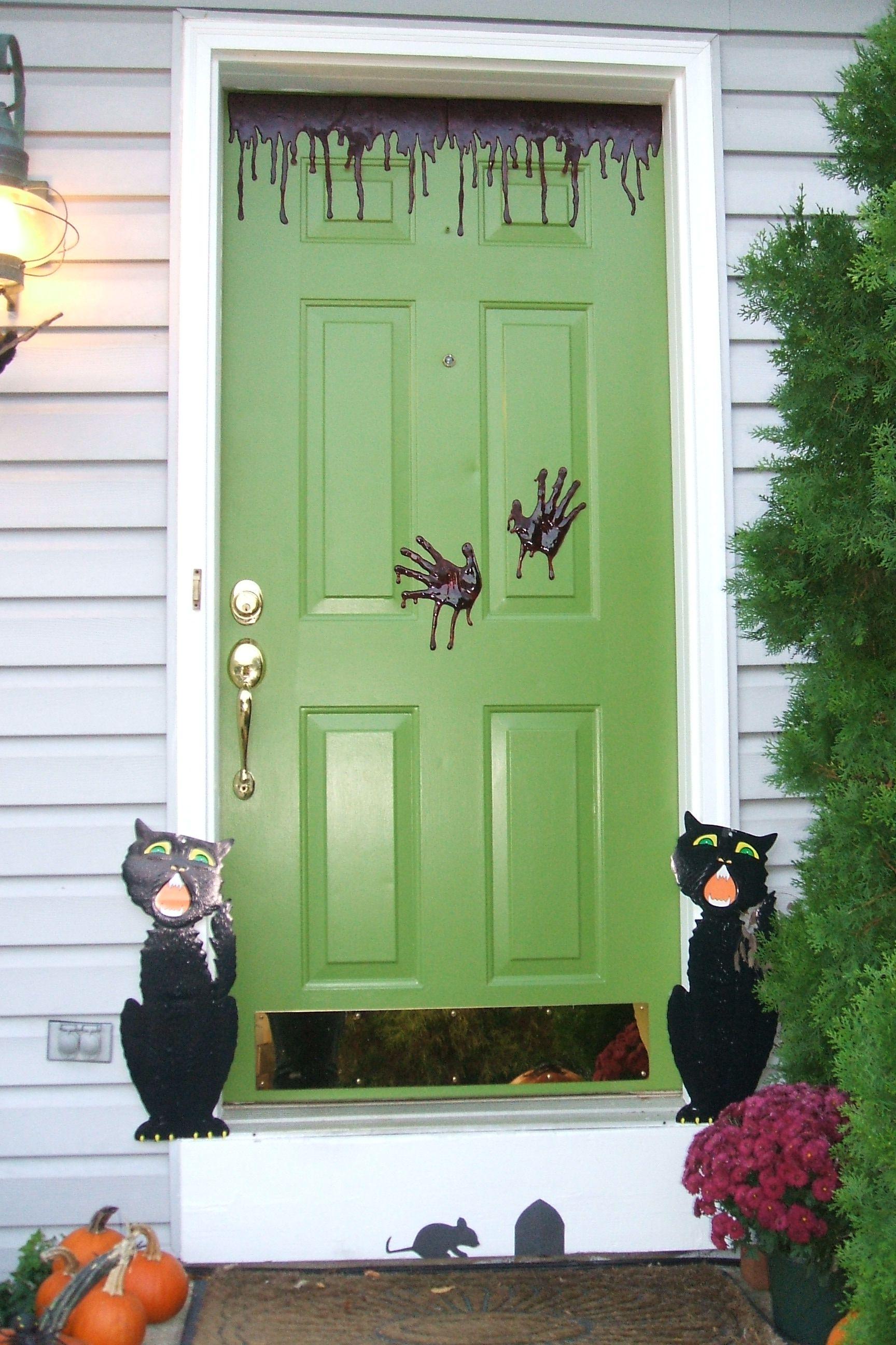 Halloween Front Door Halloween Pinterest Halloween front doors - halloween front door decor