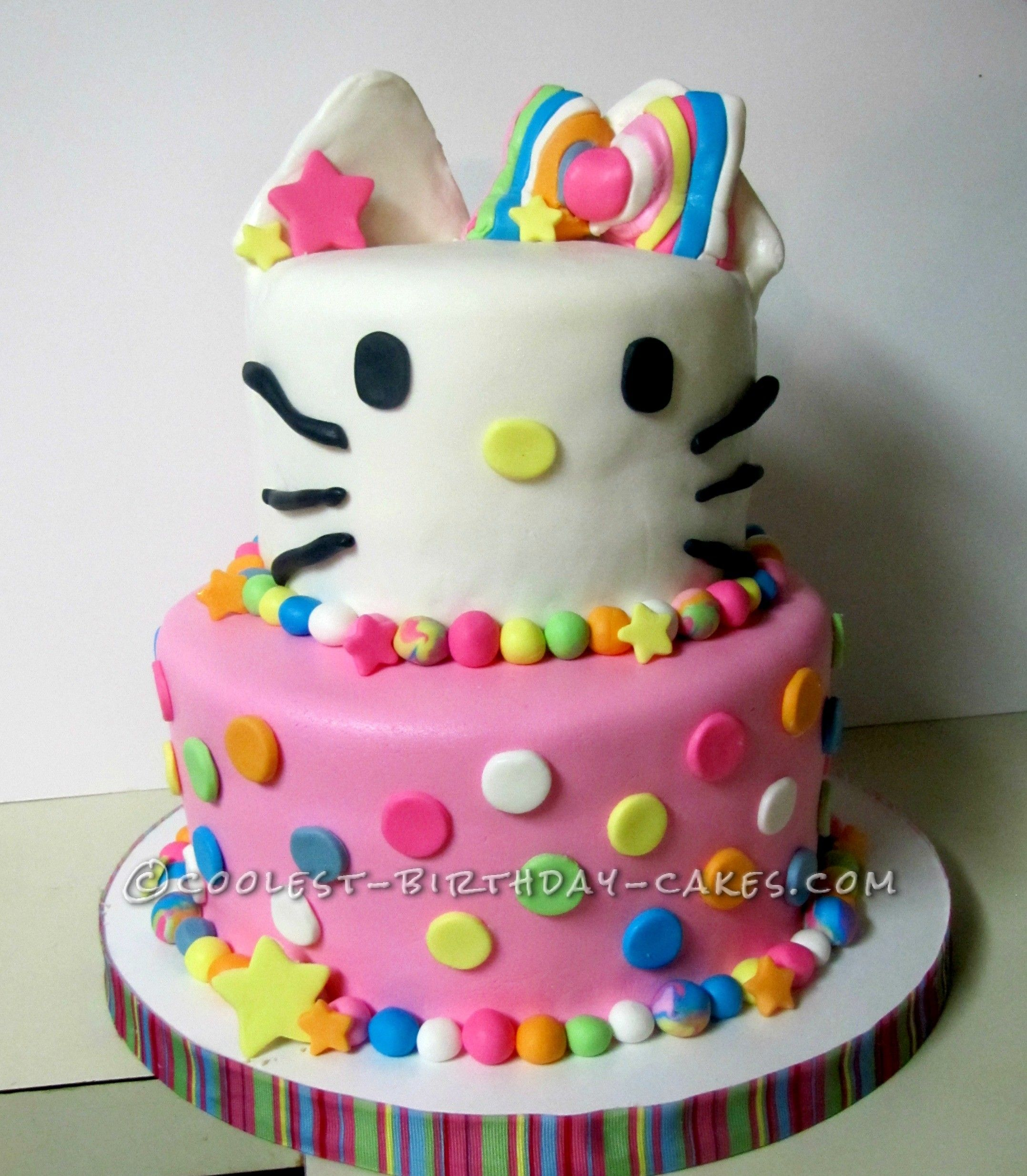 Coolest Hello Colorful Kitty Cake Kitty cake and Birthday cakes