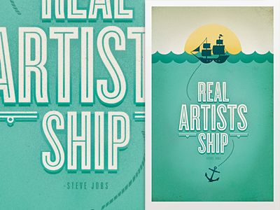 real artists ship. -steve jobs