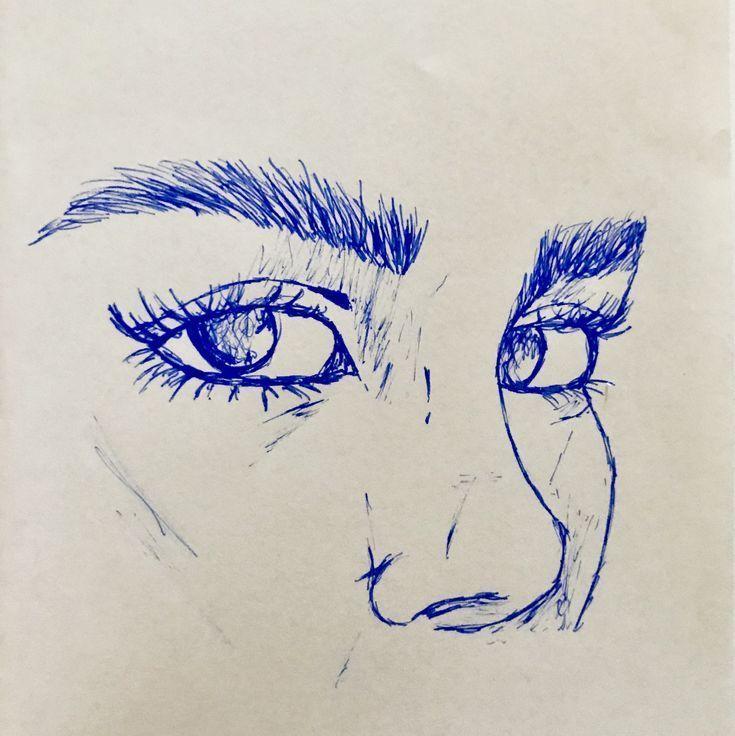 #Zeichnungen  #Selbstgemacht  #Wildfrau  #Portraits  #Kunst  #Augenbrauen # #realisticeye