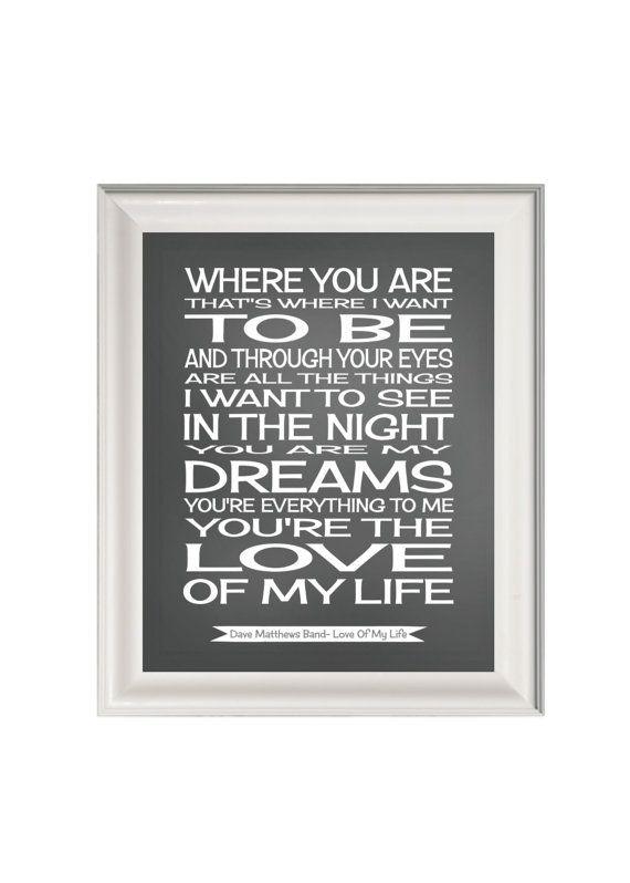 Love of my life the wedding song lyrics