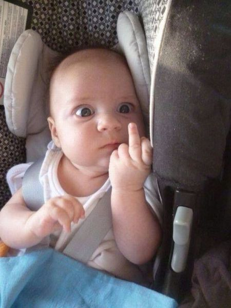 New Funny Babies The Middle Finger Is Much Better When Kids Give It RuinMyWeek.com #funny #pics #pictures #photos #humor #hilarious #comedy #kid #kids 5