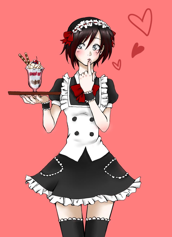 Maid Ruby Rwby anime, Rwby, Rwby characters