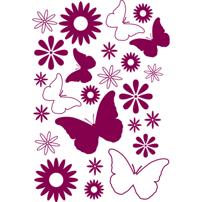 Fores y mariposas vinilo decorativo vinilos for Vinilos mariposas