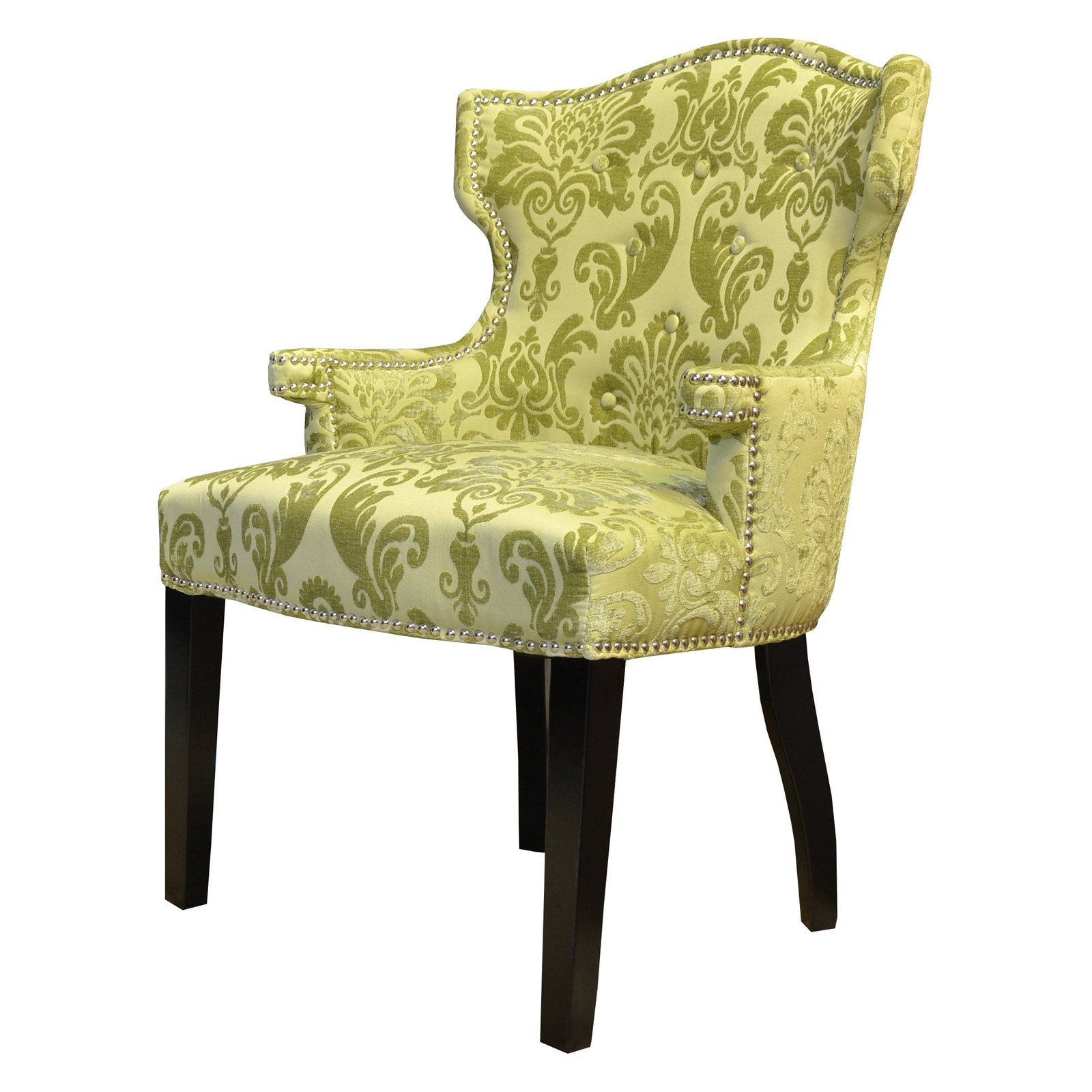Hd Couture Brittania Fan Damask Chair From Hayneedle Com Accent Chairs Wingback Chair Furniture