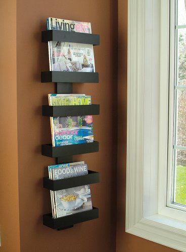 Amazon Com Modern Magazine Rack Wall Mounted Magazine