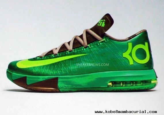 brand new cc622 2c1c8 Nike KD VI 6 Bamboo Green-Volt Mens Shoes