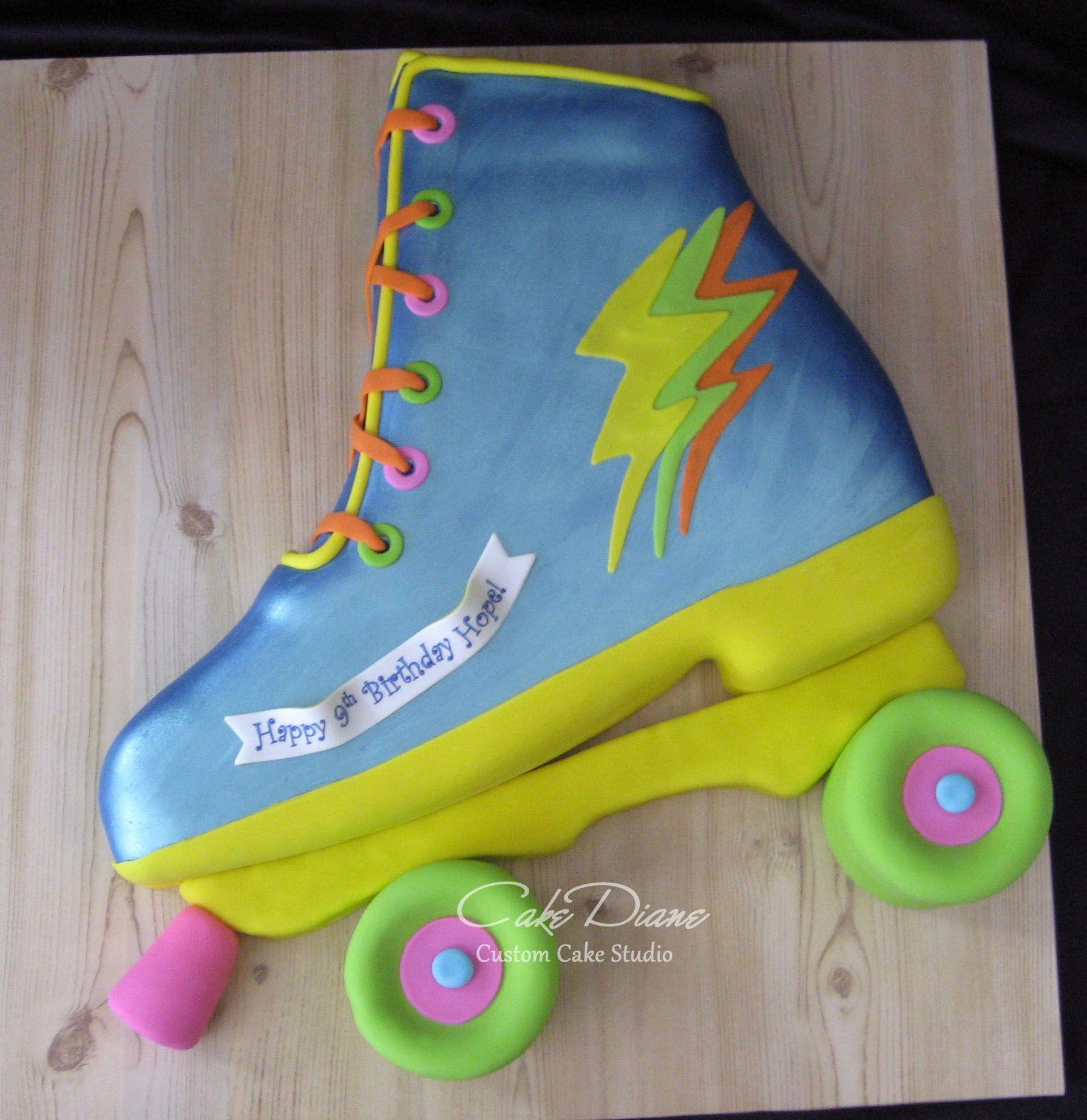 Zoella roller skates - Roller Skate Cake