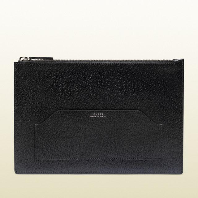 Gucci portafoglio a bustina in pelle nera