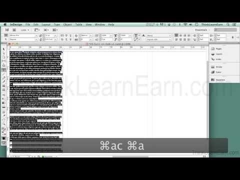 Adobe indesign CS6 tutorials How to design build make a tri-fold