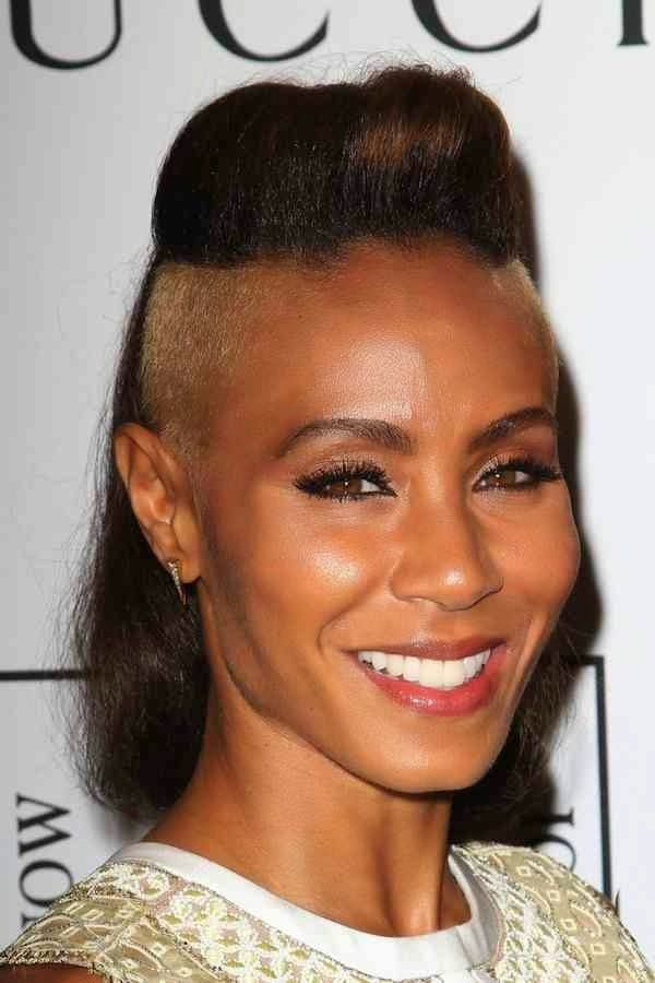 Admirable Edgy Shaved Hairstyles For Women Will Smiths Wife Has Shaved Hairstyle Inspiration Daily Dogsangcom