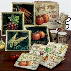 Country Vegatables Dinnerware Sets Discontinued