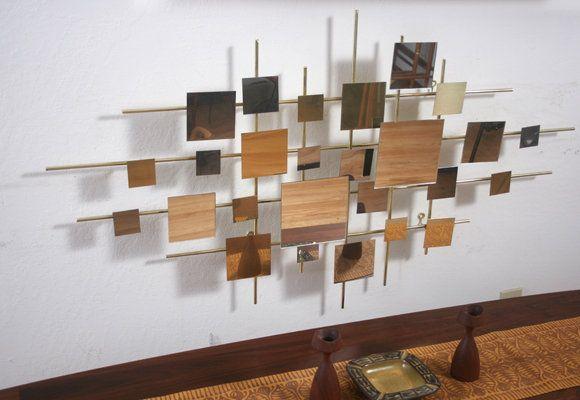 Lovely Artisan House C. Jere Multiples Mirror Wall Art