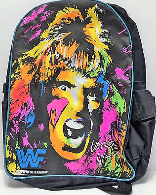 WWF Ultimate Warrior backpack! Roddy Piper fc9493da0d8b