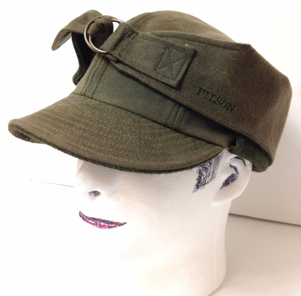 61d79ad3c274f FILSON WILDFOWL HUNTING TRAPPER HAT Ear Flap Tin-Cloth Wool Outdoor XL 7-5 8