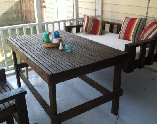 Patio Furniture and swinging daybed