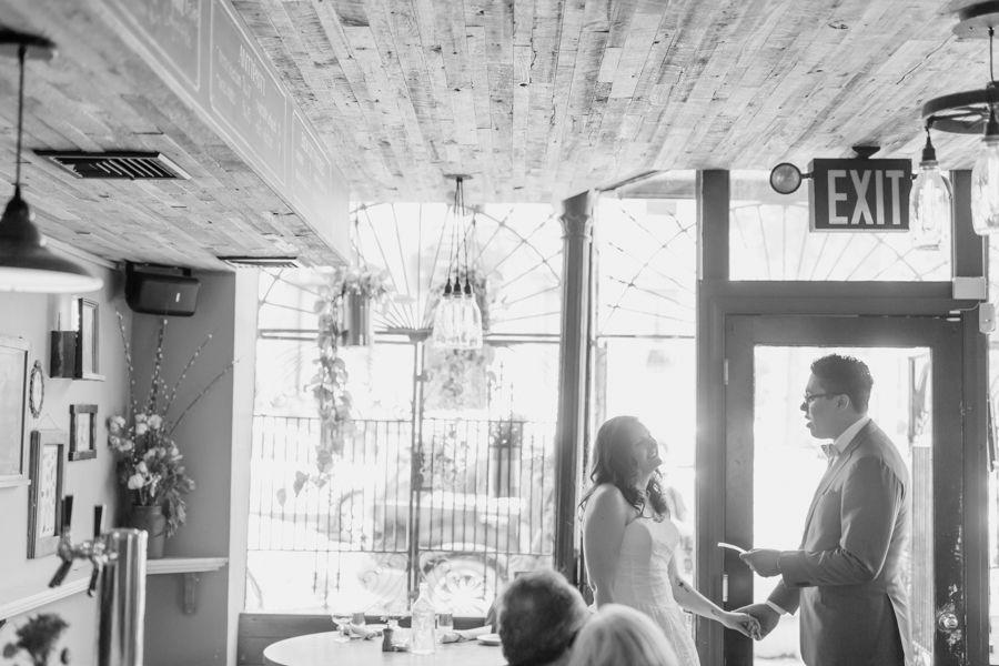 Mary + DeAndre: Intimate Brooklyn Wedding at Rucola Restaurant