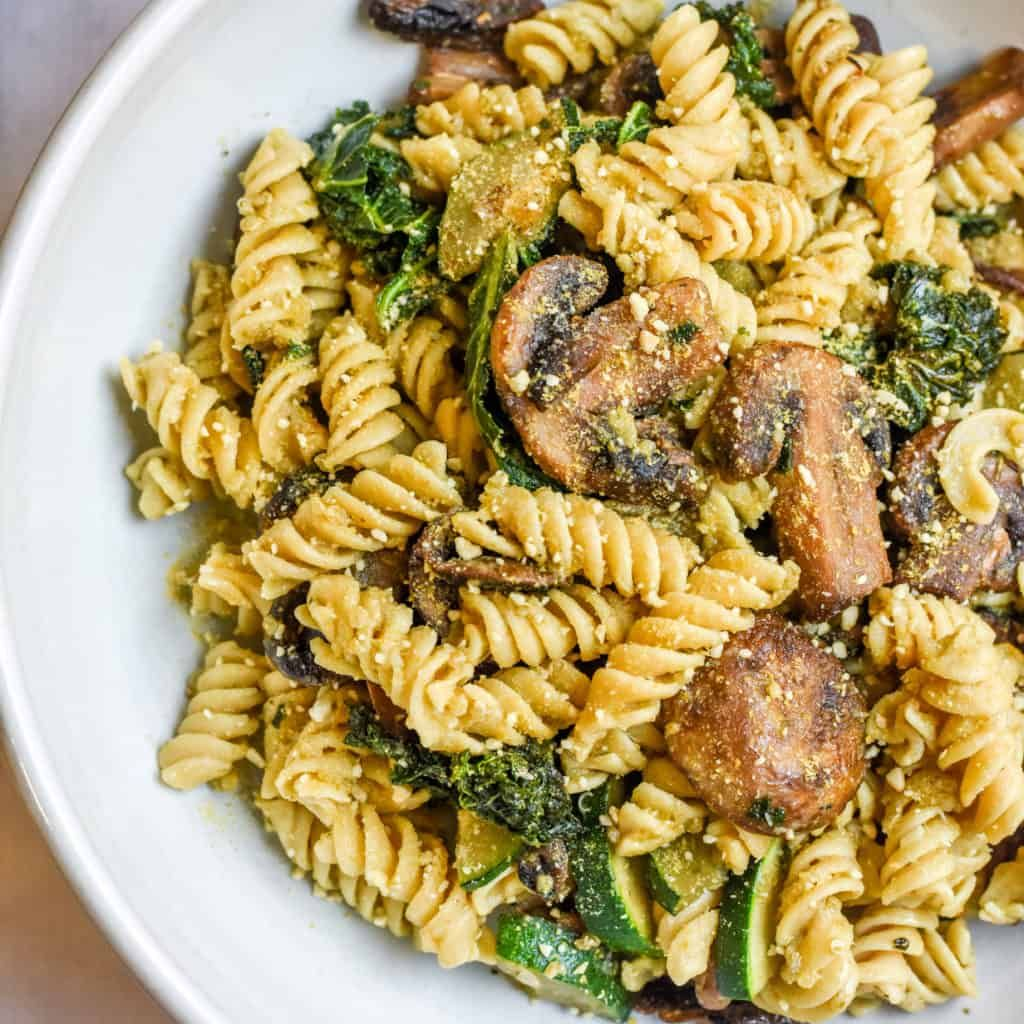 Healthy Vegetarian Pesto Chickpea Pasta   RD-Licious - Registered Dietitian Nutritionist