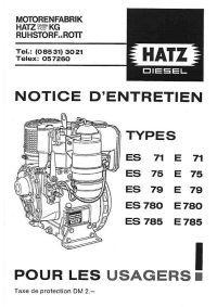 Documentation technique sur les moteurs HATZ