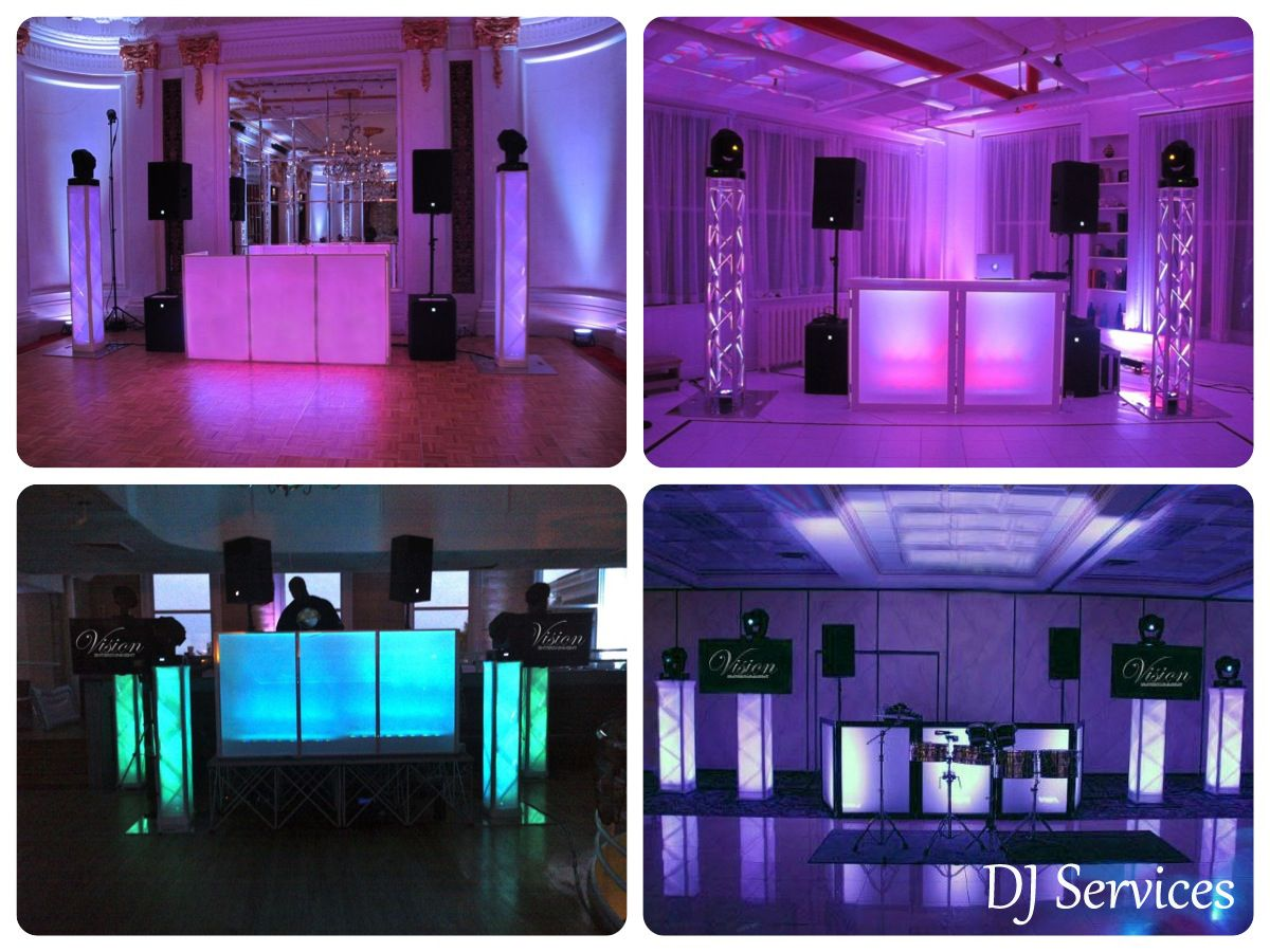 Top B Nai Mitzvah Party Trends Led Dj Booth From Vision Entertainment Mazelmoments