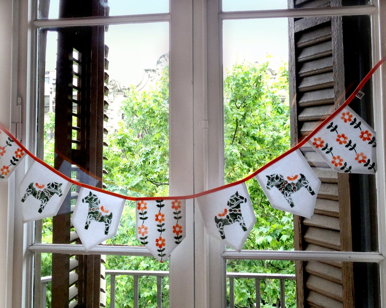 GUIRLANDE Style Scandinave en tissu. Guirlande par OtloxotBarcelona