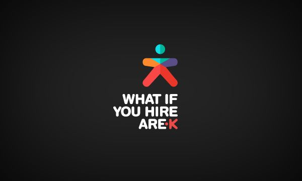 What if you hire Arek by Dora Klimczyk in Collection of 40+ Logos for Inspiration