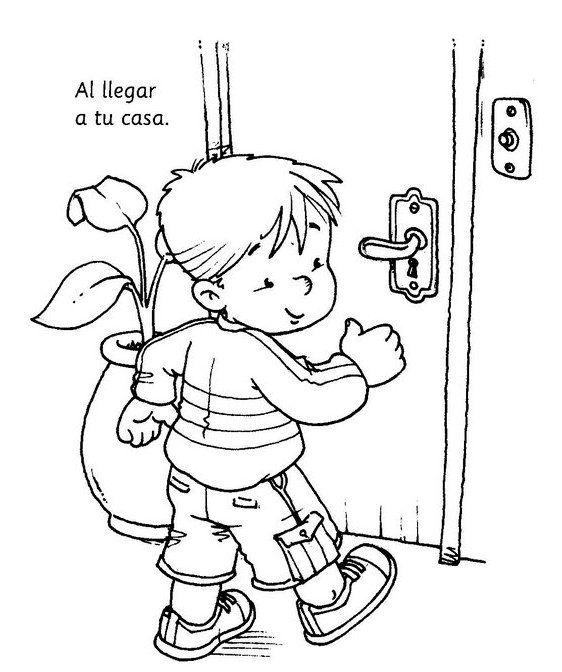 dibujos para colorear para enseñar higiene personal en los niños ... - Imagenes De Un Bano Para Colorear