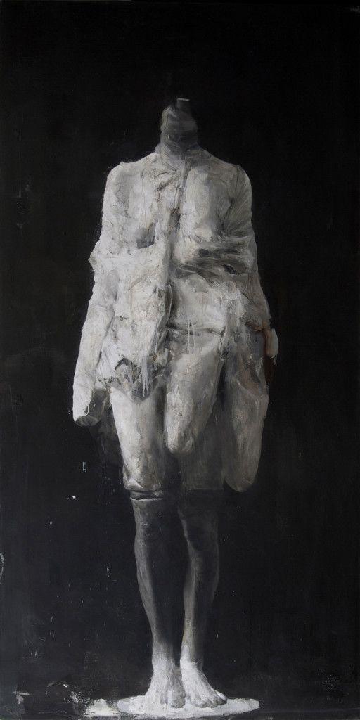 """Nicola Samorí """"Sueverie"""" 2013, oil on linen, 200 x 100 cm"""