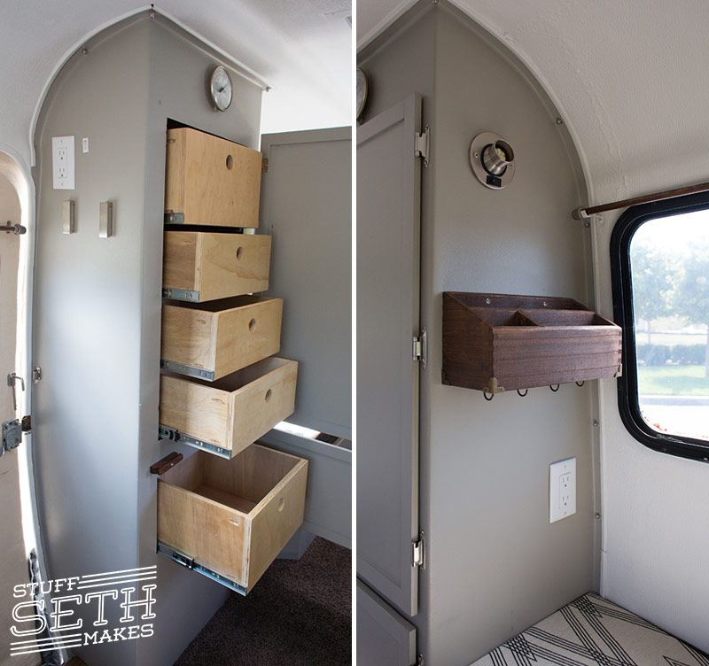 Captivating Scamp Travel Trailer Custom Closet Drawers Cabinets Cabinetry