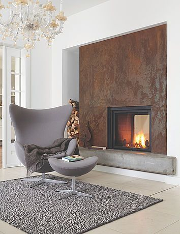 Effektfarbe, Kreativ Wandfarbe Rost: Alpina Farbrezepte ROST OPTIK   Alpina  Farben | Wohnideen | Pinterest | Living Rooms, Fireplace Design And Fire  Places