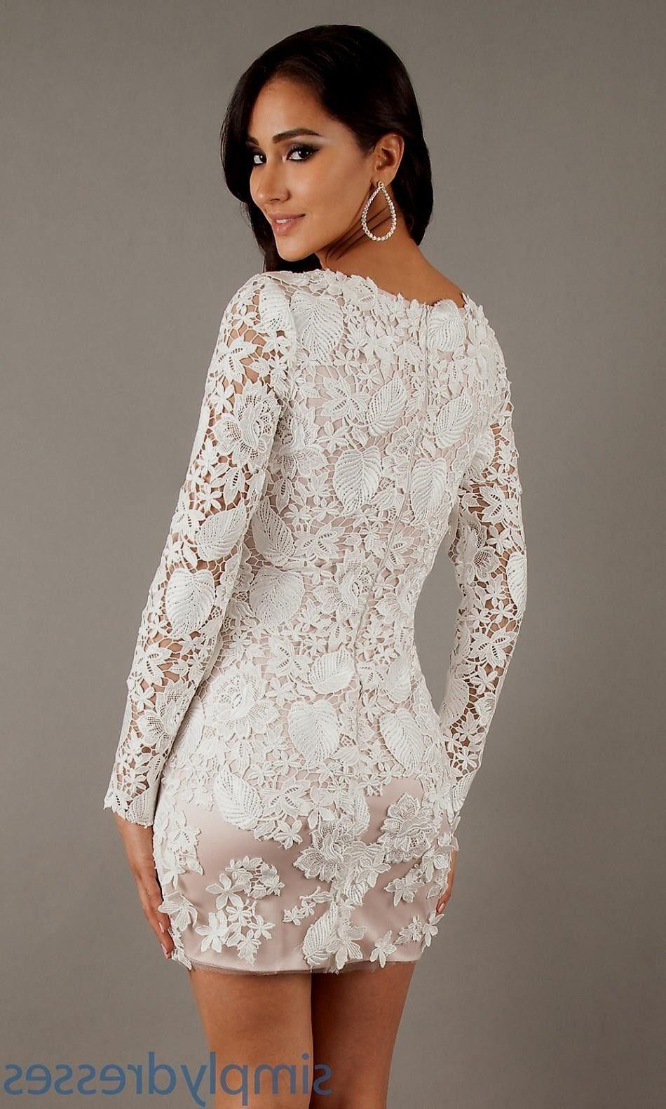 Long White Lace Dresses With Sleeves World Dresses Moda Feminina Moda Feminino [ 1581 x 950 Pixel ]