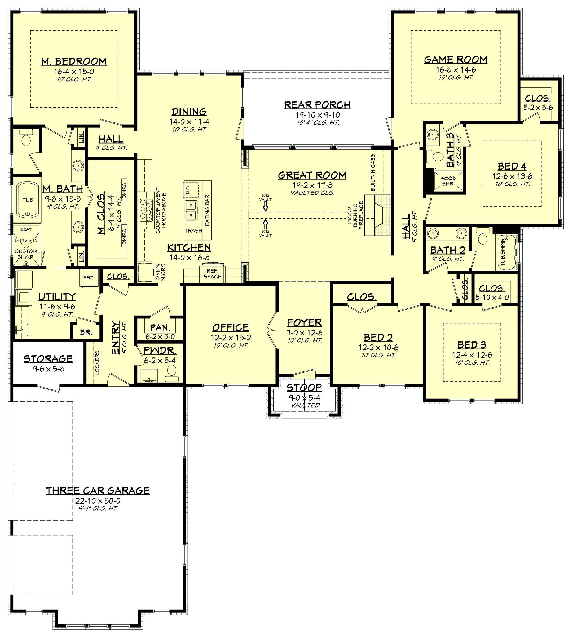 Arbor Place House Plan Floor Plans Ranch Coastal House Plans Bedroom House Plans