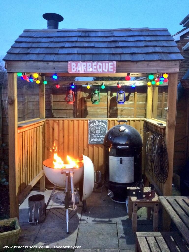 Great idea: what cook wouldn't want their own BBQ shed ...
