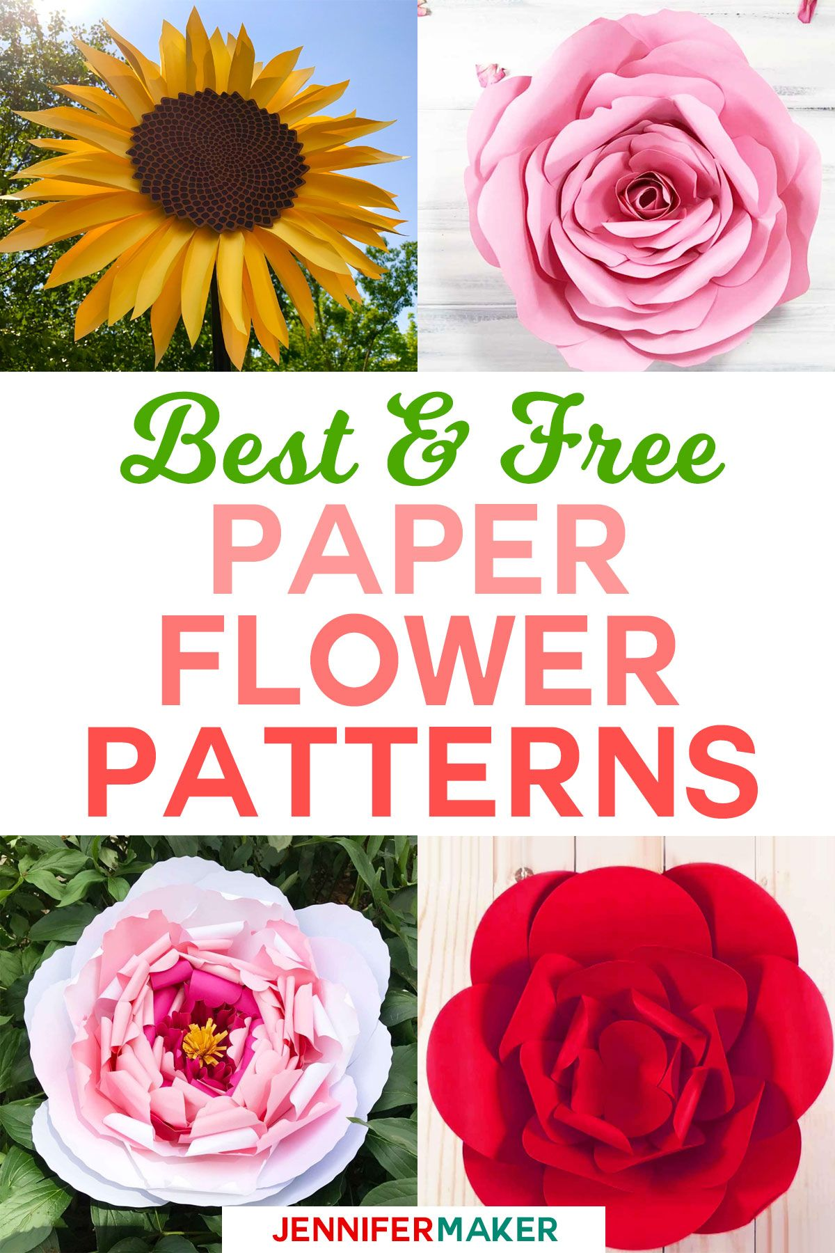 DIY Paper Flowers The Best Free Tutorials, Patterns